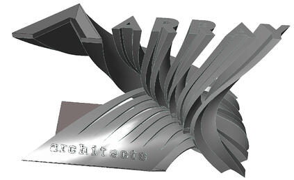 Busines Card Holder Peeling Layers