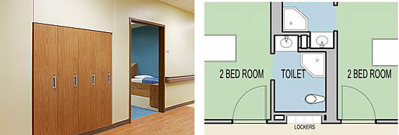 Behavioral Health Facility Lockers Diagram