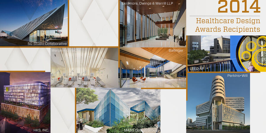 Healthcare Design Awards 2014 Collage of Buildings