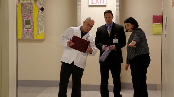 Array Team Choosing Flooring in Health Facility