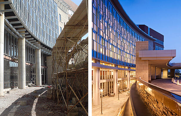 Capital Health Building Construction before and after