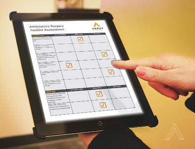 iPad Screen with Ambulatory Surgery Facility Assessment Checklist