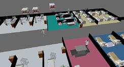 Simio model of hospital