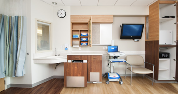 Custom Millwork in Hospital Patient Rooms