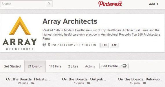 Array Architects Pinterest Screenshot
