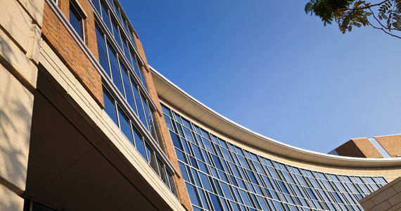 Curved Roof Structure of LEED Building