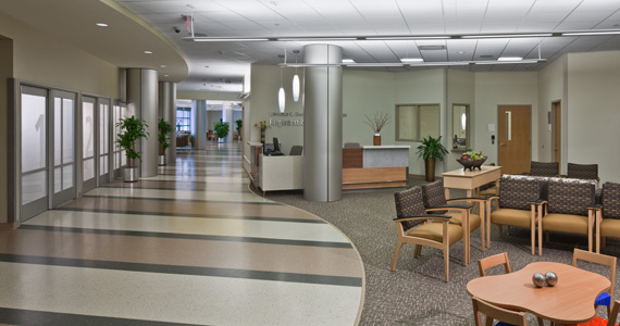 Hospital with Safe Interiors Design by Array Architects