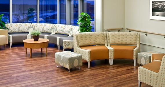 Wax Free Wood Floors in Waiting Area