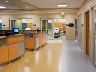 Millwork Central Nurse Station in Emergency Department