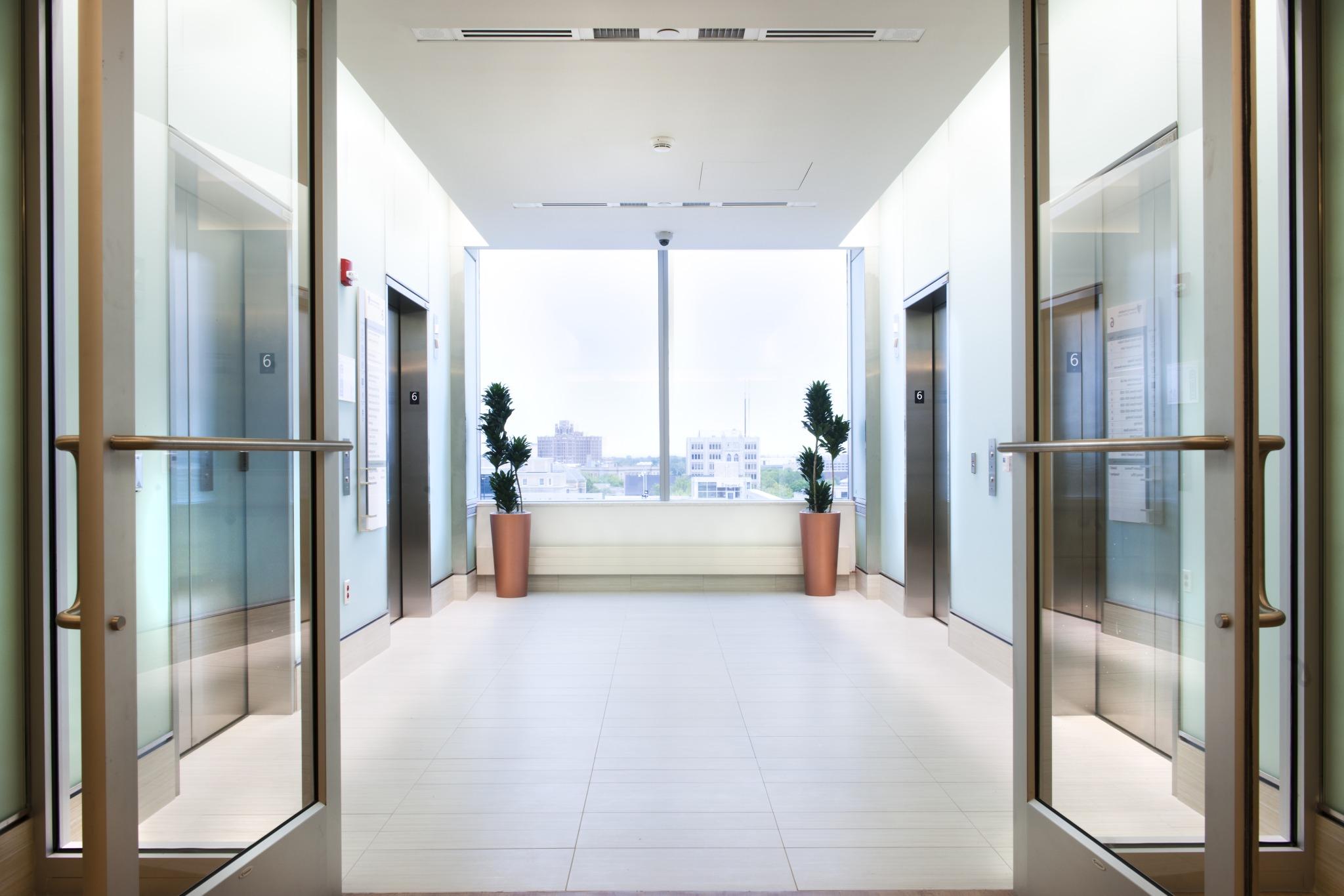 Entryway to Modern Elevator Lobby