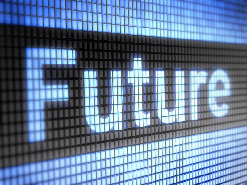 Future Text on Digital Screen