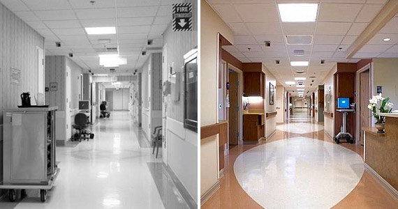 New Vs. Renovated Health Facilities Side by Side Image