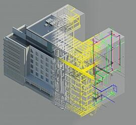 Virtual Design and Construction Graphic Healthcare Building
