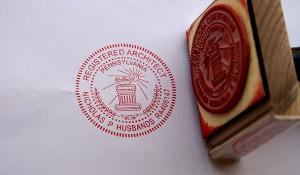 Registered Architect Stamp
