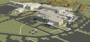 3D rendering of hospital