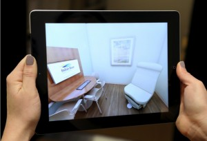 Ipad Screen showing augmented reality