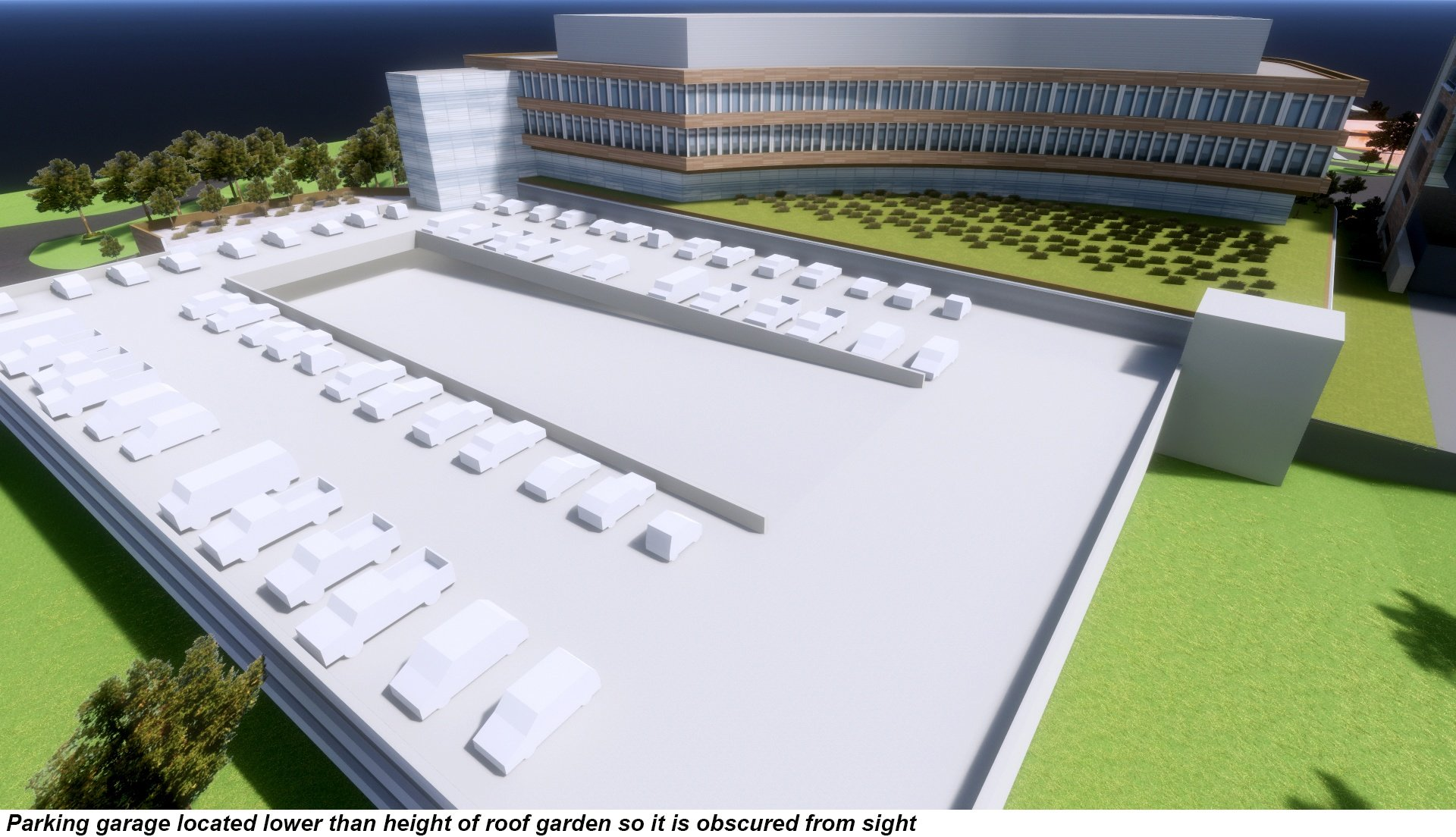Array Architects Parking Design rendering