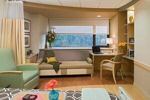 Private Hospital Room with Family Area