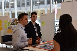 Student attending architecture conference