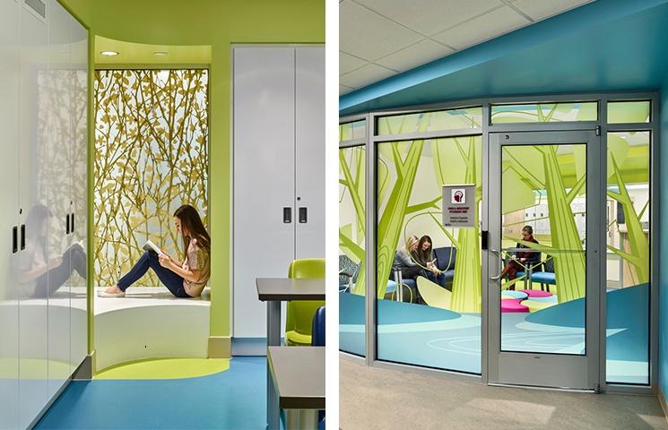 Modern design at Childrens National Medical Center behavioral facility