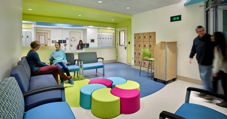Patient waiting area at CNMC behavioral health center
