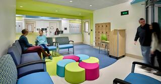 Patient waiting area at CNMC behavioral health center