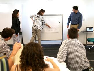 Team Meeting in Front of White Board