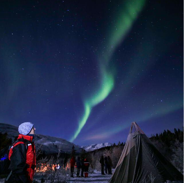 Sweeping Aurora in Norway from the Northern Lights