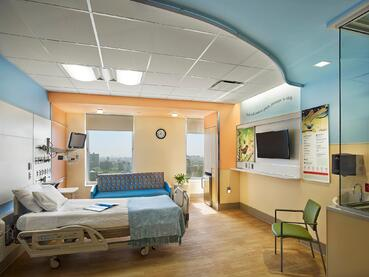 CHoNY PICU Patient Room with Environmental Colors