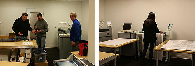 Print Room Before and After Photo