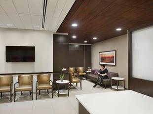 Modern health facility waiting room