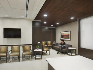 Modern health facility waiting room