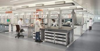 Scientists in modern lab
