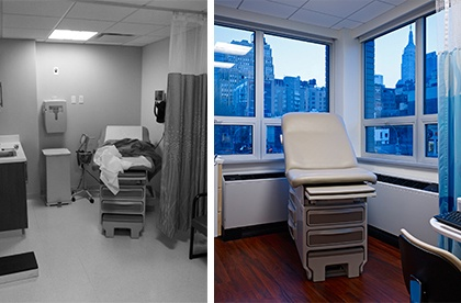 Before and After Old Hospital Renovation