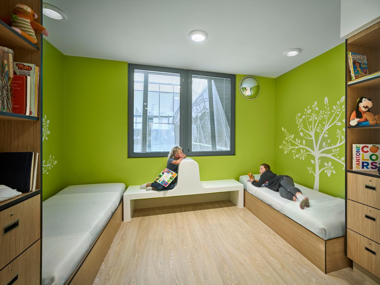 children in modern behavioral facility