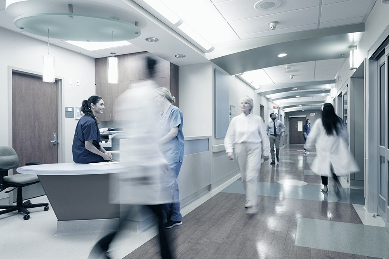 Active Hospital Corridor