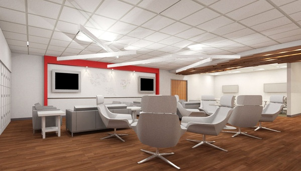 UTSW Group area modern white chairs