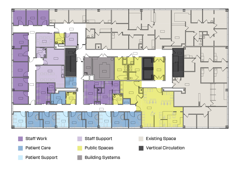 MedStar Colored Wayfinding floor Plan