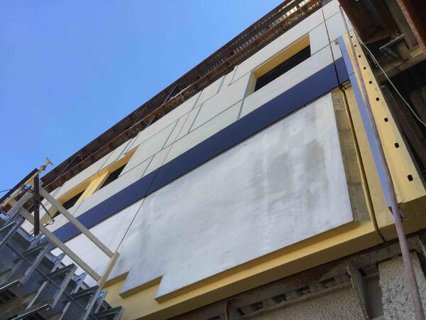 detail_EIFS to metal to cultured stone